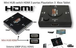 Título do anúncio: Adaptador Switch Hdmi Divisor Hub Com 3 Portas Hdmi Full HD 1080p