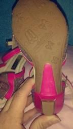 Sandália sapato salto número 26, $30