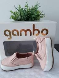 Tênis couro Gambo menina baby