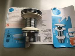 Válvula para Pia de Banheiro Metal Longa 1? Clic-Clac Sensea