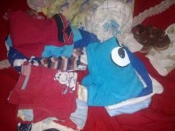 Lote 21 Peças roupas de bebê menio
