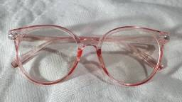 Armação de óculos vintage de lentes transparentes anti-radiação