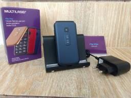 Telefone Celular Multilaser de Flip com Rádio FM. Semi Novo. Excelente Qualidade.