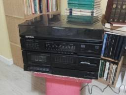 Toca Discos e fita cassete 3x1 Gradiente MS-7 antigo