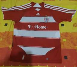Camisa Bayern De Munique adidas 2007,2008,2009  tamanho M Juvenil