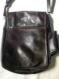Bolsa de couro legítimo estilo carteiro