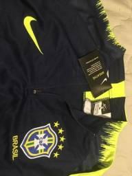 6b5fefc423 Agasalho De Treino Futebol Seleção Brasil 2018 Adulto - Tamanho G