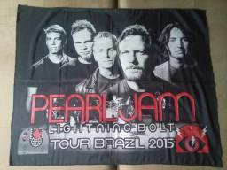 Bandeira Pearl Jam Lightning Bolt Tour Brazil 2015