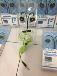 Fone de ouvido Fonge À Prova D' Água Esporte com Microfone, e regulador do som