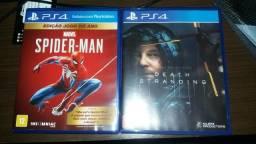 Spider-man (com DLC) e death stranding