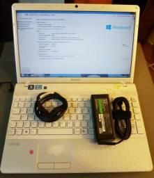 """Notebook Sony Vaio - Intel i3 - 8gb RAM - 500gb HDD - Tela 15.5"""" HD"""