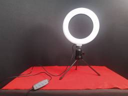 Ring Light 16cm com tripé *Novo