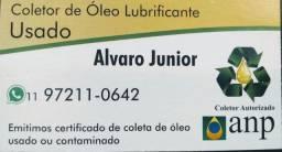 Coleta ÓLEO LUBRIFICANTE usado