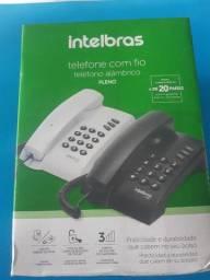 Telefone Com Fio Pleno Preto Intelbras com chave