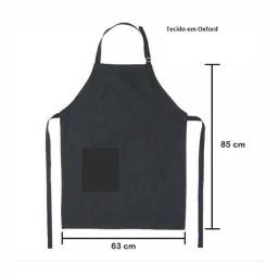 Avental de tecido com bolso