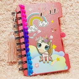 Caderninhos em Scrapbook - Personalizados