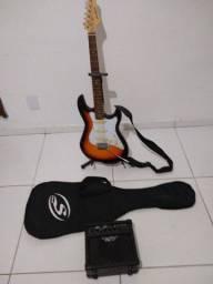 Guitarra Strinberg e caixa Strinberg com capa e cabo troco por violão Folk ou teclado