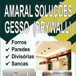 Paredes externas e internas, forros e Closet de gesso acartonado Drywall