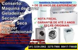 Assistência Técnica Maquina de Lavar/Geladeira 3367-3365 Bacacheri/Boa Vista/Santa Candida