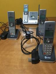 At&t DECT 6.0 Telefone digital sem fio com quatro monofones