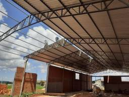 Barracões pré moldados e metálicos, fundações, coberturas, fabricação