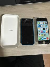 IPhone 5C tela quebrada apenas