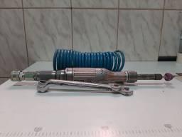 Retifica pneumática longa com mangueira de ar de silicone uma chave 17 é outra 14
