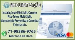 Instalação de Ar Condicionado e Manutenção Preventiva-Limpeza