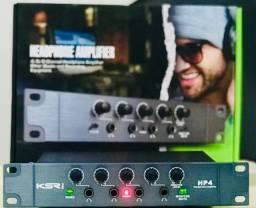 Amplificador De Fones Ksr Pro Hp4