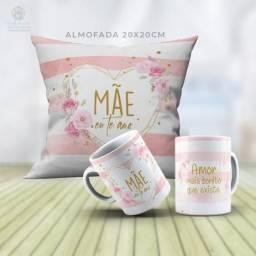 Kit Especial Caneca e Almofada Dia das Mães amor mais bonito - Caneca Com Estampa