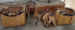 Cangaia para mulas burros e traia de argola e cinto de crina