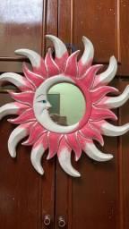 Espelho Decorativo Rosa