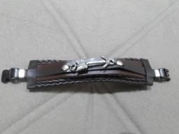 Bracelete Masculino Flecha Couro