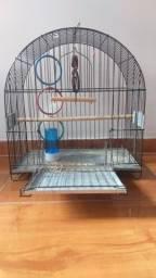 Gaiola PRETA para calopsita ou pássaros maiores.