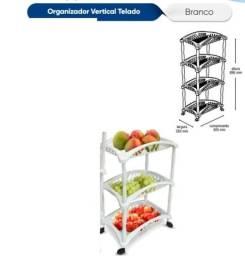 Título do anúncio: Organizador Vertical Telado Triplo - Branco - Fruteira e outros
