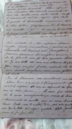 Carta romantica italiana escrita em 1918