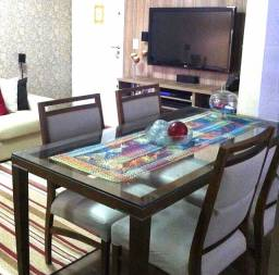 Jogo Mesa de jantar com 4 cadeira (Etna)
