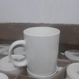 Caneca de Porcelana Branca  Cx com 48 unid.
