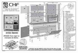 Kitão Cozinha R539 1,82 m 5 portas 3 gavetas. Entrega Rápida!!