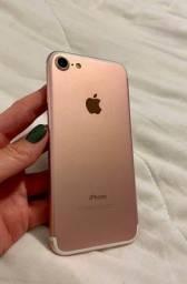 iPhone 7 Original Apple 128gb, Rose Gold + Fone + Cabo de carregamento rápido de de 3m