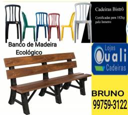 Banco de Madeira Ecológico para Jardim