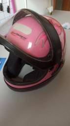Vendo capacete Rosa perfeito, nenhum defeito pronto para uso