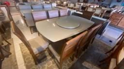 Título do anúncio: Mesa de 8 lugares na madeira maciça