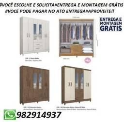 Preço Incrivel!!Guarda roupa 6 Portas Com Espelhos +Entrega e Montagem Gratis!!