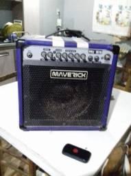 Caixa de som amplificadora maverick