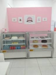 Balcão Refrigerado Tortas, Balcão Seco e Estufa para Salgados