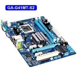 Título do anúncio: Placa mãe Gigabyte G41 LGA 775 DDR3 Expansível até 8GB