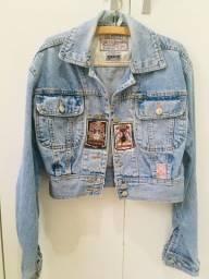 Jaqueta Jeans Retro Di Fiori