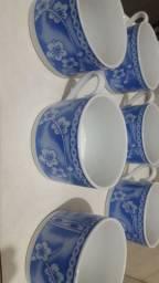 6 xícaras de chá sem pires