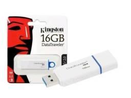Pendrive Kingston 3.0  16GB DataTraveler G4  Branco/Azul - Loja Natan Abreu